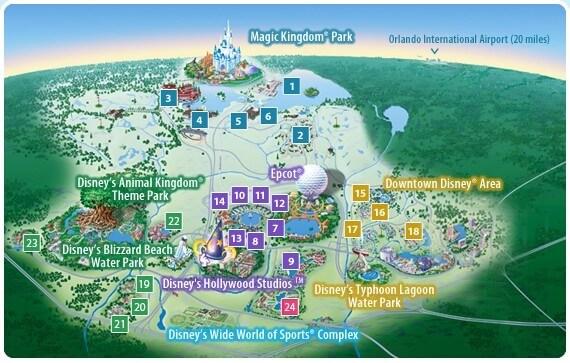 Parques de Disney en Orlando: mapa de Disney