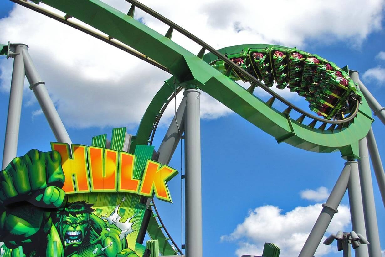 Dónde comprar las entradas más económicas de Orlando: Parque Islands of Adventure - montaña-rusa Hulk