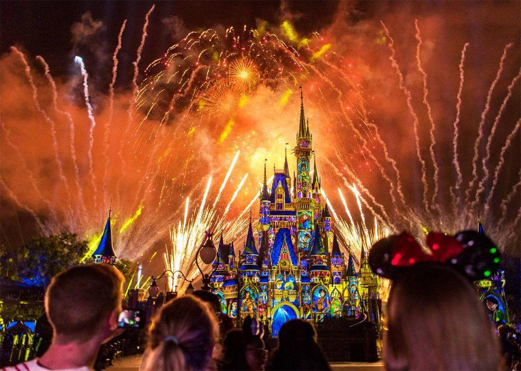 Magic Kingdom en Orlando: Fuegos artificiales