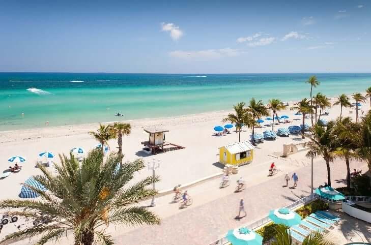 Qué hacer en Miami: playa Hollywood Beach